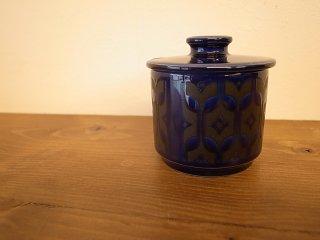 Hornsea(ホーンジー) heirloomミッドナイトブルー シュガーポット