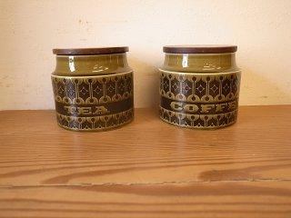 Hornsea (ホーンジー) heirloom レイクランドグリーン キャニスター(S) coffee・tea