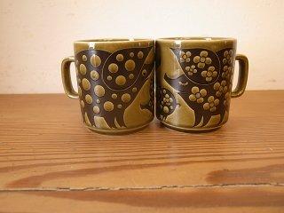 Hornsea (ホーンジー) heirloom レイクランドグリーン Pig Mug