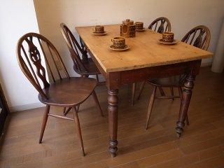 アンティークパイン W121細長テーブル