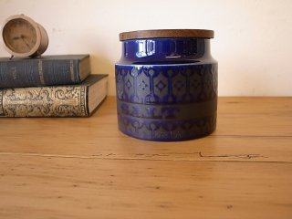 Hornsea (ホーンジー) heirloom ミッドナイトブルー キャニスター(S)