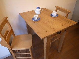 アンティークパイン W91小さなテーブル
