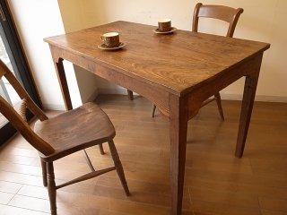 アンティーク エルム材の細長テーブルW122