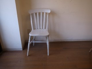 アンティーク 白い椅子(訳ありセール)