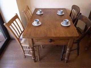 アンティークパイン W114テーブル
