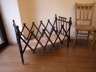 アンティーク 折り畳みベビーベッド