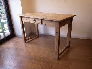アンティークパイン W119小ぶりの細長テーブル