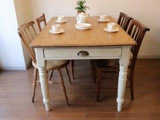 アンティークテーブル W122オールドパインテーブル