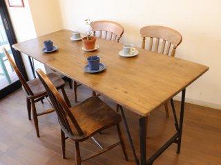 アンティークパイン W178折り畳みテーブル