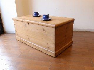 アンティークパイン W94ブランケットボックス