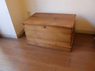 アンティークパイン 小ぶりのブランケットボックス