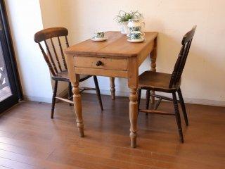 アンティークパイン W92小さなテーブル