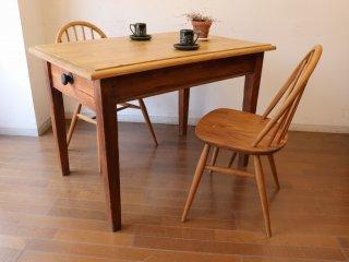 アンティークパイン W107小さなテーブル
