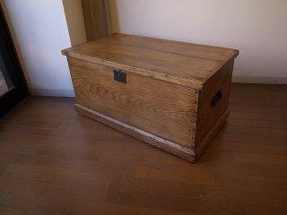 アンティークパイン ブランケットボックス