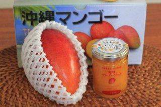 マンゴーとジャムセット ワケありマンゴー300〜400g1玉 + オーガニック マンゴージャム120g1瓶 全国送料無料!