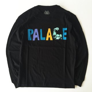 <img class='new_mark_img1' src='http://www.equipment-store.com/img/new/icons1.gif' style='border:none;display:inline;margin:0px;padding:0px;width:auto;' />Palace Skateboards<br>MUSCLE L/S T-SHIRT<br>BLACK<br>�֥�å�