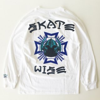 <img class='new_mark_img1' src='//img.shop-pro.jp/img/new/icons1.gif' style='border:none;display:inline;margin:0px;padding:0px;width:auto;' />KNOW WAVE<br>SKATEWISE 01 3RD STREET<br>LONG SLEEVE T-SHIRT<br>WHITE