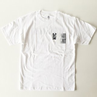 <img class='new_mark_img1' src='//img.shop-pro.jp/img/new/icons1.gif' style='border:none;display:inline;margin:0px;padding:0px;width:auto;' />CNY<br>NYC UP ALL NIGHT T-SHIRT<br>WHITE