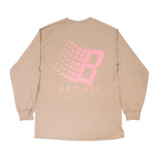 <img class='new_mark_img1' src='//img.shop-pro.jp/img/new/icons47.gif' style='border:none;display:inline;margin:0px;padding:0px;width:auto;' />Bronze 56K<br>B LONGSLEEVE SHIRT<br>SAND/PINK