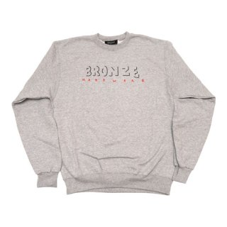 <img class='new_mark_img1' src='//img.shop-pro.jp/img/new/icons1.gif' style='border:none;display:inline;margin:0px;padding:0px;width:auto;' />Bronze 56K<br>HARDWEAR CREWNECK<br>HEATHER GREY