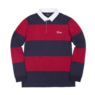 <img class='new_mark_img1' src='https://img.shop-pro.jp/img/new/icons1.gif' style='border:none;display:inline;margin:0px;padding:0px;width:auto;' />Dime<br>STRIPED RUGBY SHIRT<br>NAVY&RED