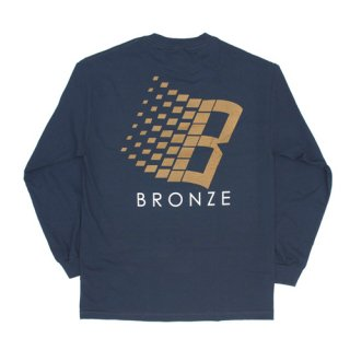 <img class='new_mark_img1' src='//img.shop-pro.jp/img/new/icons47.gif' style='border:none;display:inline;margin:0px;padding:0px;width:auto;' />Bronze 56K<br>B LOGO LONGSLEEVE TEE<br>NAVY/BRONZE/ORANGE