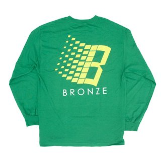 <img class='new_mark_img1' src='//img.shop-pro.jp/img/new/icons1.gif' style='border:none;display:inline;margin:0px;padding:0px;width:auto;' />Bronze 56K<br>B LOGO LONGSLEEVE TEE<br>KELLY GREEN/YELLOW
