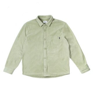 <img class='new_mark_img1' src='//img.shop-pro.jp/img/new/icons1.gif' style='border:none;display:inline;margin:0px;padding:0px;width:auto;' />Dime<br>FLEECE BUTTON-UP SHIRT<br>GREEN