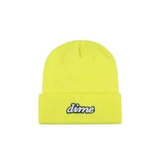 <img class='new_mark_img1' src='https://img.shop-pro.jp/img/new/icons1.gif' style='border:none;display:inline;margin:0px;padding:0px;width:auto;' />Dime<br>CURSIVE BEANIE<br>SAFETY YELLOW
