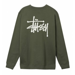 <img class='new_mark_img1' src='https://img.shop-pro.jp/img/new/icons1.gif' style='border:none;display:inline;margin:0px;padding:0px;width:auto;' />STUSSY<br>ステューシー<br>Basic Stüssy Crew<br>ARMY
