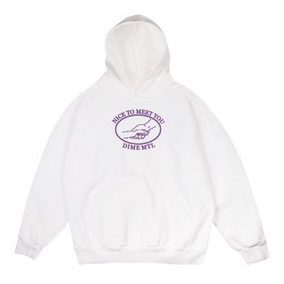 <img class='new_mark_img1' src='//img.shop-pro.jp/img/new/icons1.gif' style='border:none;display:inline;margin:0px;padding:0px;width:auto;' />Dime<br>GREETINGS HOODIE<br>WHITE