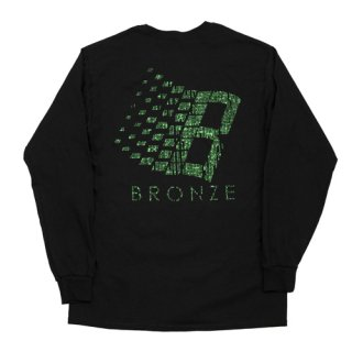 <img class='new_mark_img1' src='https://img.shop-pro.jp/img/new/icons1.gif' style='border:none;display:inline;margin:0px;padding:0px;width:auto;' />Bronze 56K<br>B LOGO BINARY LONGSLEEVE TEE<br>BLACK