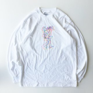 <img class='new_mark_img1' src='https://img.shop-pro.jp/img/new/icons1.gif' style='border:none;display:inline;margin:0px;padding:0px;width:auto;' />BOOK WORKS<br>Crazy Man Long Sleeve Tee<br>WHITE