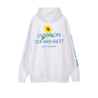 <img class='new_mark_img1' src='https://img.shop-pro.jp/img/new/icons1.gif' style='border:none;display:inline;margin:0px;padding:0px;width:auto;' />SAINTWOODS<br>Flower Shop Hoodie<br>WHITE