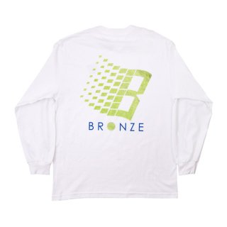 <img class='new_mark_img1' src='https://img.shop-pro.jp/img/new/icons1.gif' style='border:none;display:inline;margin:0px;padding:0px;width:auto;' />Bronze 56K<br>LOGO TENNIS LONGSLEEVE TEE<br>WHITE
