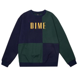 <img class='new_mark_img1' src='https://img.shop-pro.jp/img/new/icons1.gif' style='border:none;display:inline;margin:0px;padding:0px;width:auto;' />Dime<br>BLOCK TERRY CREWNECK<br>NAVY&GREEN