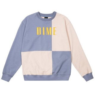 <img class='new_mark_img1' src='https://img.shop-pro.jp/img/new/icons1.gif' style='border:none;display:inline;margin:0px;padding:0px;width:auto;' />Dime<br>BLOCK TERRY CREWNECK<br>LIGHT BLUE&CREAM