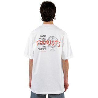 <img class='new_mark_img1' src='https://img.shop-pro.jp/img/new/icons1.gif' style='border:none;display:inline;margin:0px;padding:0px;width:auto;' />SAINTWOODS<br>TOURIST TEE<br>WHITE