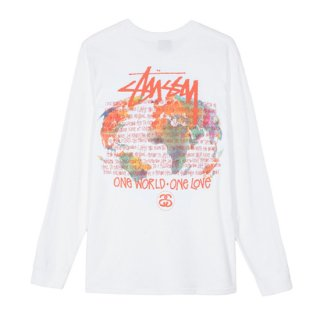 <img class='new_mark_img1' src='https://img.shop-pro.jp/img/new/icons1.gif' style='border:none;display:inline;margin:0px;padding:0px;width:auto;' />STUSSY<br>ステューシー<br>ONE WORLD LS TEE<br>WHITE