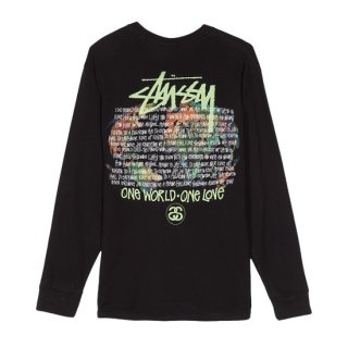 <img class='new_mark_img1' src='https://img.shop-pro.jp/img/new/icons1.gif' style='border:none;display:inline;margin:0px;padding:0px;width:auto;' />STUSSY<br>ステューシー<br>ONE WORLD LS TEE<br>BLACK