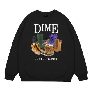 <img class='new_mark_img1' src='https://img.shop-pro.jp/img/new/icons1.gif' style='border:none;display:inline;margin:0px;padding:0px;width:auto;' />Dime<br>PUDDLE CREWNECK<br>BLACK