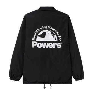 <img class='new_mark_img1' src='https://img.shop-pro.jp/img/new/icons1.gif' style='border:none;display:inline;margin:0px;padding:0px;width:auto;' />POWERS<br>POWERS COACH JACKET<br>BLACK