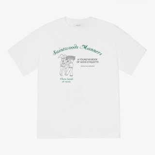 <img class='new_mark_img1' src='https://img.shop-pro.jp/img/new/icons1.gif' style='border:none;display:inline;margin:0px;padding:0px;width:auto;' />SAINTWOODS<br>SAINTWOODS MANNERS TEE<br>WHITE