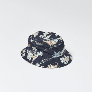 <img class='new_mark_img1' src='https://img.shop-pro.jp/img/new/icons1.gif' style='border:none;display:inline;margin:0px;padding:0px;width:auto;' />LITE YEAR<br>Hawaiian Bucket Hat<br>ハワイアンバケットハット<br>NAVY