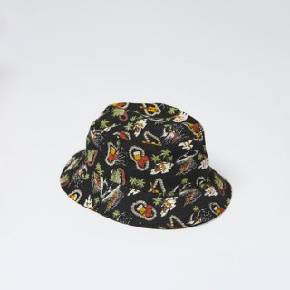 <img class='new_mark_img1' src='https://img.shop-pro.jp/img/new/icons1.gif' style='border:none;display:inline;margin:0px;padding:0px;width:auto;' />LITE YEAR<br>Hawaiian Bucket Hat<br>ハワイアンバケットハット<br>BLACK