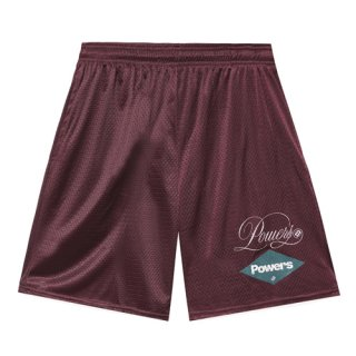 <img class='new_mark_img1' src='https://img.shop-pro.jp/img/new/icons1.gif' style='border:none;display:inline;margin:0px;padding:0px;width:auto;' />POWERS<br>DIAMOND SCRIPT MESH SHORTS<br>MAROON