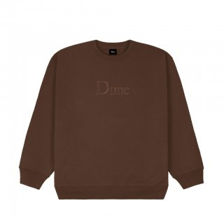<img class='new_mark_img1' src='https://img.shop-pro.jp/img/new/icons1.gif' style='border:none;display:inline;margin:0px;padding:0px;width:auto;' />Dime<br>CLASSIC LOGO CREWNECK<br>STRAY BROWN