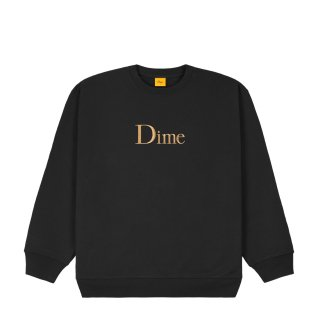 <img class='new_mark_img1' src='https://img.shop-pro.jp/img/new/icons1.gif' style='border:none;display:inline;margin:0px;padding:0px;width:auto;' />Dime<br>CLASSIC EMBROIDERED CREWNECK<br>BLACK