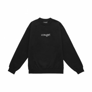 <img class='new_mark_img1' src='https://img.shop-pro.jp/img/new/icons1.gif' style='border:none;display:inline;margin:0px;padding:0px;width:auto;' />COWGIRL<br>COWGIRL CREWNECK SWEATSHIRT<br>BLACK