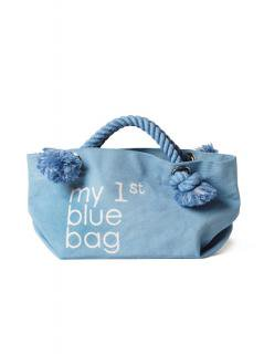 "Canvas Tote Bag ""my 1st blue bag""<br />Color: Pale Blue Size: S"